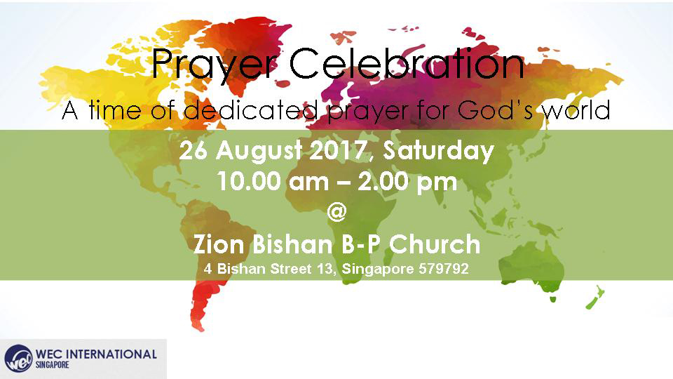 Come join them to pray for the enormous work that is still for Living room zion bishan